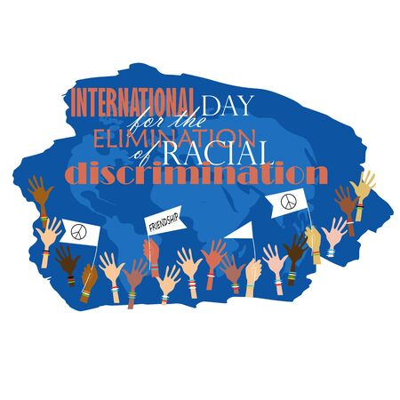 stop racism. world day against racial discrimination. vector image