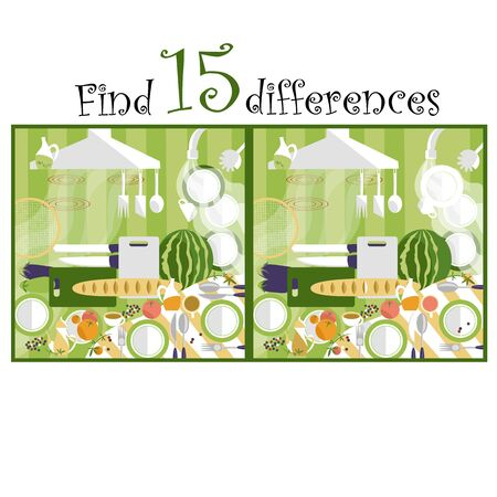 find the difference. vector image with different images. puzzle for children