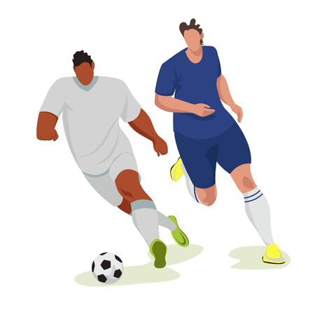 football. footballers. vector image of people playing ball. sports game