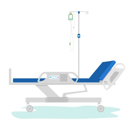 the medical bed. automatic bed for patients. medical couch. resuscitation. vector