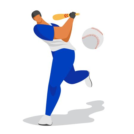 baseball player. vector image of a baseball player. athlete with a bat. hitting the ball