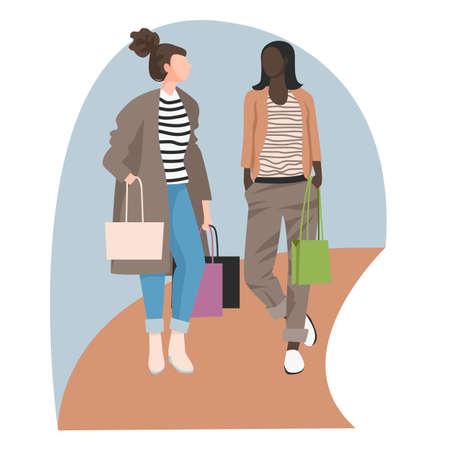 girls shopping, image of women shopping in a store 免版税图像 - 152085574