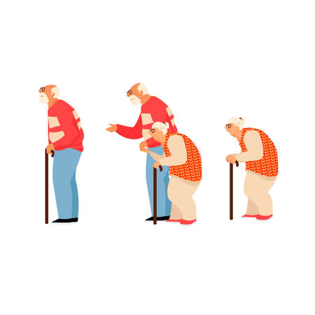 older people. image of grandparents. old people. set of images Illustration