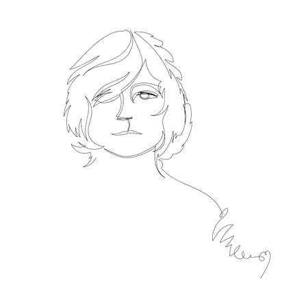 woman. vector linear drawing. one continuous line. female face