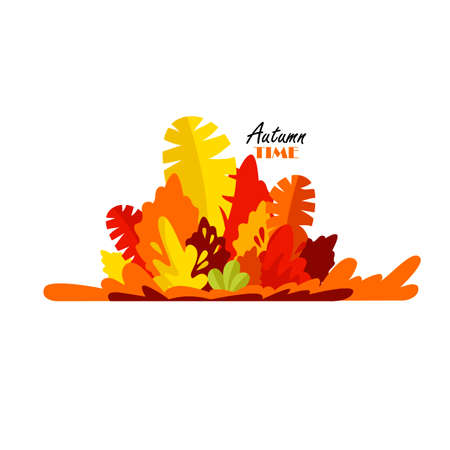 autumn leave. decoration template. vector illustration. congratulation. autumn time