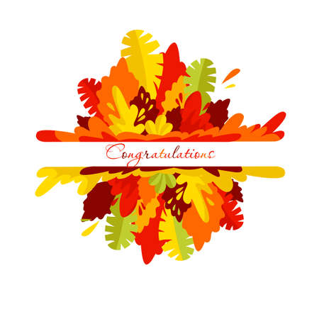 autumn banner. decoration template. vector autumn leaves. congratulation Illustration
