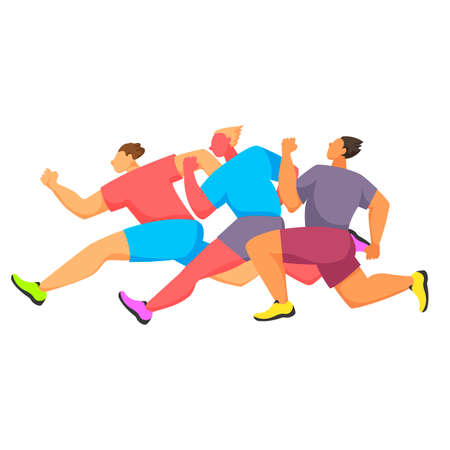 the competition of athletes on the run. vector illustration
