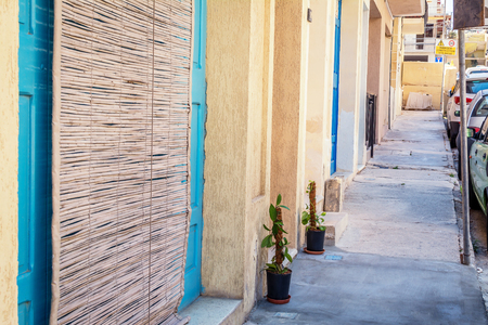 dipladenia: Via di Bugibba, Malta Archivio Fotografico