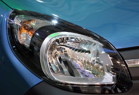 Projector Led Of A Modern Luxury Car Technology Concept Auto