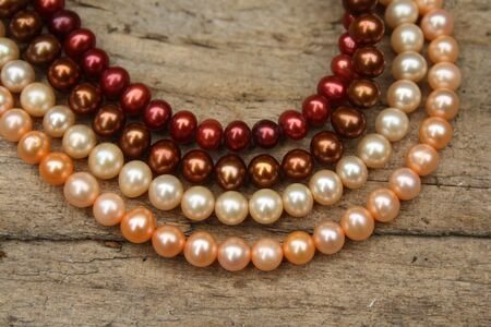 ornamentals: pearls necklace Stock Photo