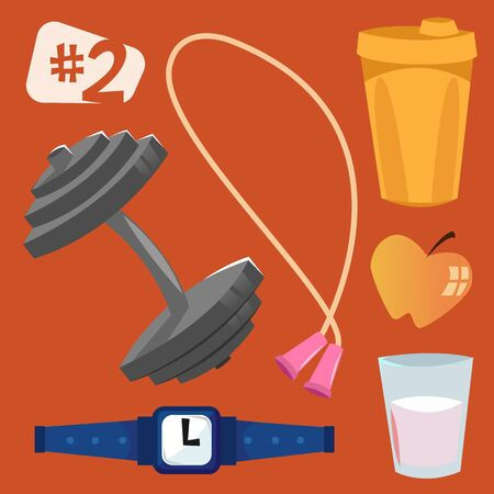 objects: Isolated objects sports equipment Illustration