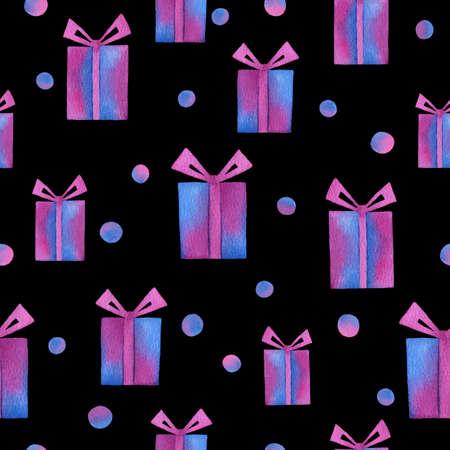 Color gift box pattern 免版税图像