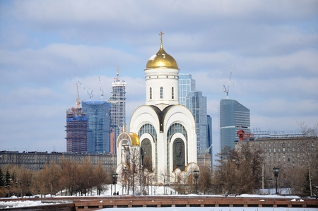 Church of St. George on Poklonnaya Hill in Moscow, Russia photo