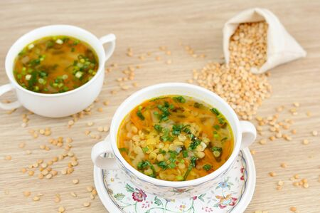 grits: A delicious pea soup  home cooking
