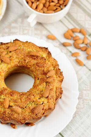 A delicious homemade almond cake Stock Photo - 13300425