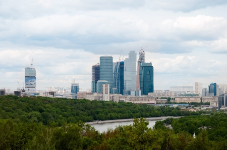 panorama of Moscow, Russia photo