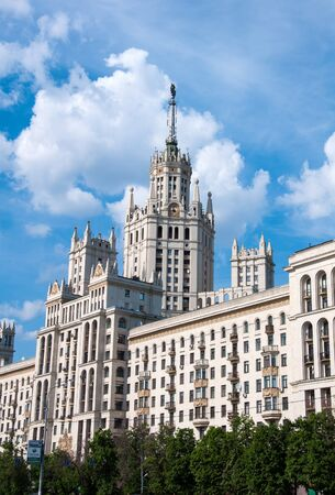 stalin empire style: Stalins house in Moscow, Russia, landmark Stock Photo
