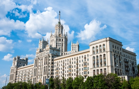 Stalins house in Moscow, Russia, landmark Stock Photo