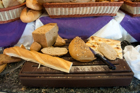 A delicious fresh bread in the shop Stock Photo - 14234068
