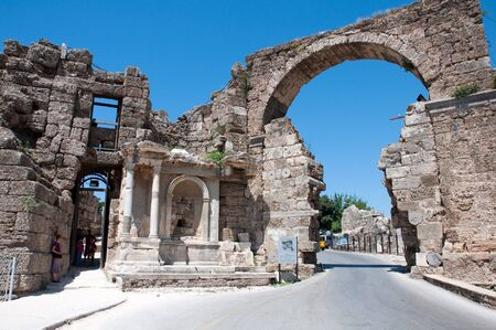 The ruins of the ancient city of Side in Turkey
