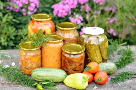 Home canning, canned vegetables 写真素材