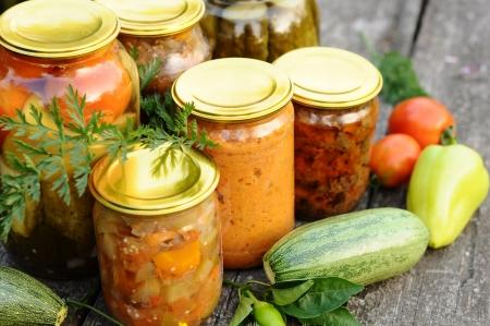 Conservas caseras, conservas vegetales
