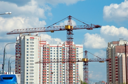 housing development: The construction of modern residential building