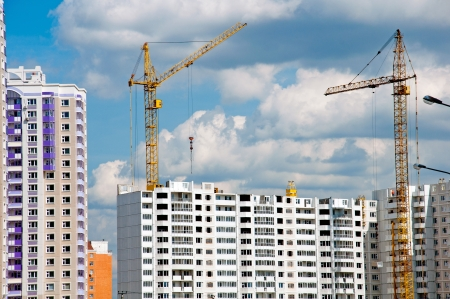 The construction of modern residential building