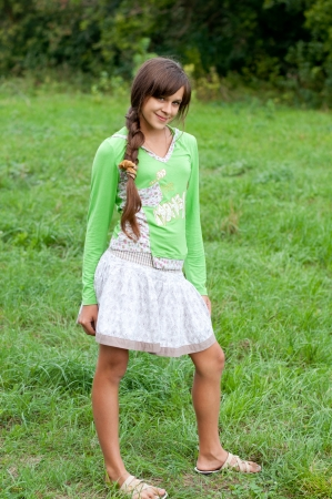 dark ages: Teen girl on nature