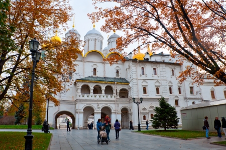 Moscow Kremlin cathedrals in autumn