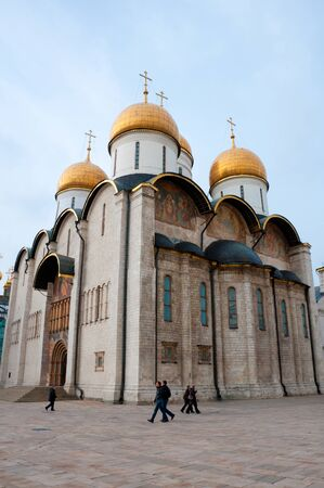 assumption: Cathedral in the Moscow Kremlin. Russia Stock Photo