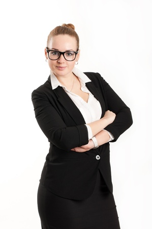 believable: Business woman on a light background