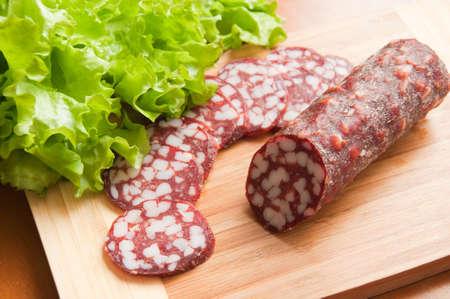 Smoked sausage, sliced