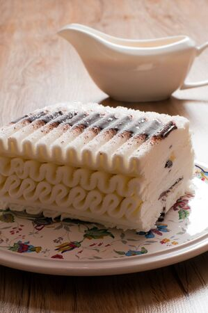 Ice cream cake with chocolate photo