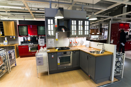 Kitchen in the furniture store