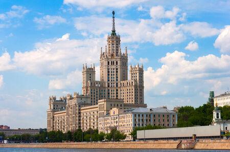 stalin empire style: Moscow, Stalin-era building on Kotelnicheskaya Embankment