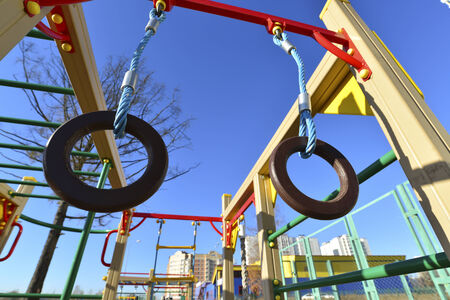sports complex: Childrens sports complex outdoors on a sunny day