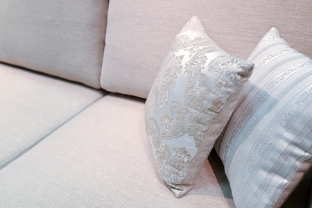 Beautiful Pillow on sofa at a home photo