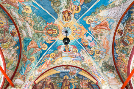drow: MOSCOW, RUSSIA - MARCH 9, 2014: Interior of the temple of the Annunciation, which was constructed in a 1661.
