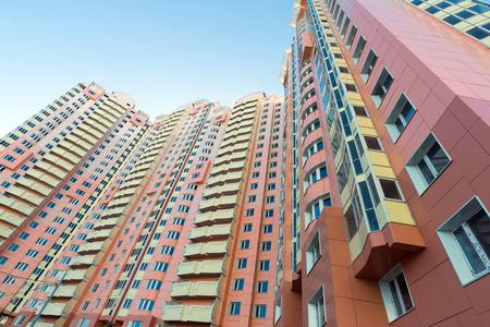 multistory: Modern multistory residential buildings in sunny day