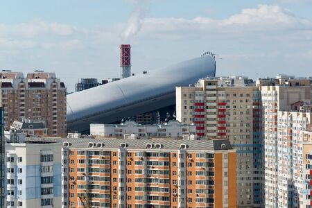 outskirts: MOSCOW, RUSSIA - March 10 2015, Area of new buildings on the outskirts of Moscow