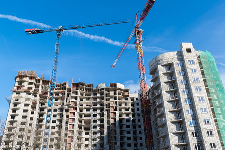 multi storey: Construction of a multi storey residential house