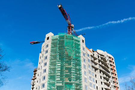 residential construction: Construction of a multi storey residential house