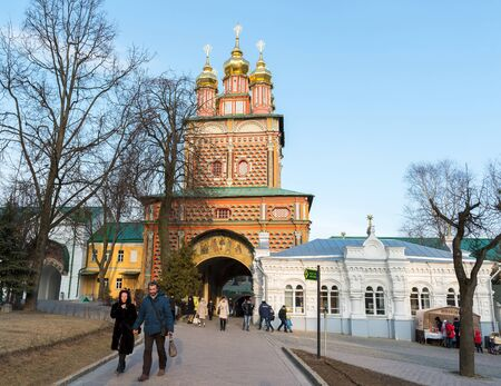 14th century: Sergiev Posad, RUSSIA-MARCH, 15, 2012. Monastery in a Sergiev Posad in the Moscow region. It was built in the 14th century Editorial