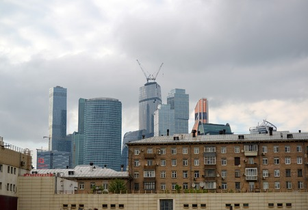 working stiff: MOSCOW. RUSSIA - MAY 23.2015. The Moscow International Business Center. MIBC is one of  a largest construction projects in Europe