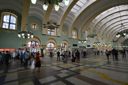 kazansky: MOSCOW, RUSSIA - 17.06.2015. The interior of the Kazansky railway station. Built in 1862. Editorial