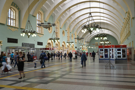 kazansky: MOSCOW, RUSSIA - 17.06.2015. The interior of the Kazansky railway station. Built in 1862. Editorial