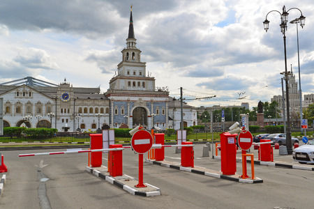 parking station: MOSCOW, RUSSIA - 17.06.2015. Free Parking near the Kazansky railway station Editorial