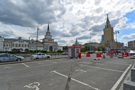 kazansky: MOSCOW, RUSSIA - 17.06.2015. Free Parking near the Kazansky railway station Editorial