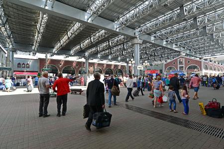 kazansky: MOSCOW, RUSSIA - 17.06.2015. The interior of  Kazansky  railway station. Built in 1862.